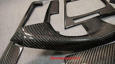 For BMW E46 M3 Coupe Model Only Carbon Fiber Interior Trim Dash 8 Pieces Kit