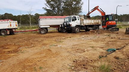 Excavation hire excavator hire truck hire soil removal