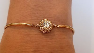 High Quality Gold filled cubic zirconia crystal  Bracelet .16cm + 4cm ajustable