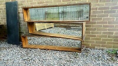 Antique vintage mirrors 20s/30s with handmade reclaimed timber shelf surround