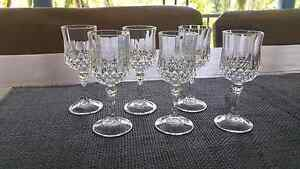 Small crystal glasses x 6 Caboolture Caboolture Area Preview