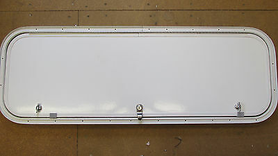 "40"" X 13"" BAGGAGE DOOR 1K2T1FP ARCTIC WHITE FX AWF SPL TH  1 KEY/ 2 TWIST  LOCKS"
