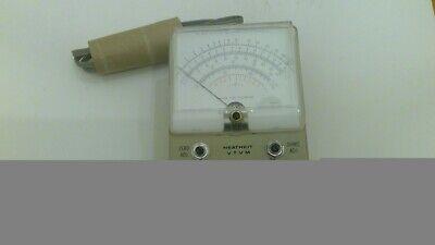 HEATHKIT VTVM VACUUM TUBE VOLT METER MODEL IM-5218 WHITE FACE (UNTESTED)