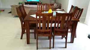 Solid Wood 9 Piece Dining Table Beverley Park Kogarah Area Preview