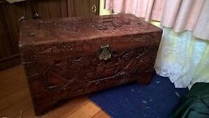Camphor wood chest Lindisfarne Clarence Area Preview