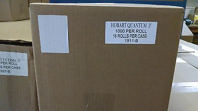 """HOBART QUANTUM 3"""" BLANK SCALE LABELS - FREE SHIPPING!!!   BEST PRICE #1911BAL"""