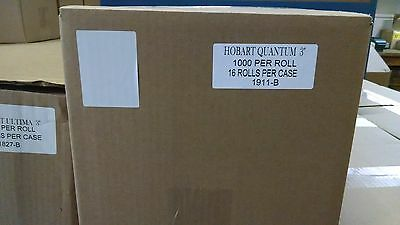 """HOBART QUANTUM 3"""" BLANK SCALE LABELS - FREE SHIPPING!!!   BEST PRICE"""