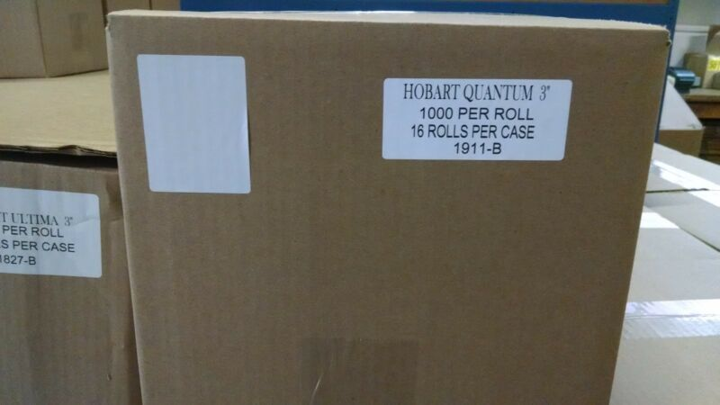 """HOBART QUANTUM 3"""" BLANK SCALE LABELS - BEST PRICE OVERALL! #1911B Free Shipping"""