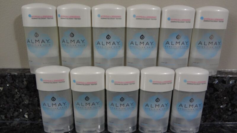 11 Almay SENSITIVE SKIN Clear Gel FRAGRANCE FREE Antiperspirant Deodorant