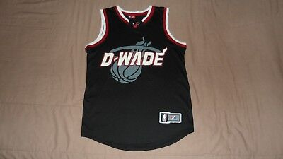 (Miami Heat Black D-Wade #3 Wade Majestic Men's Small NBA Basketball Jersey)