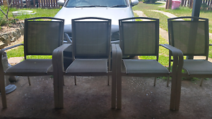 Set Of Four Outdoor Chairs Strathpine Pine Rivers Area Preview