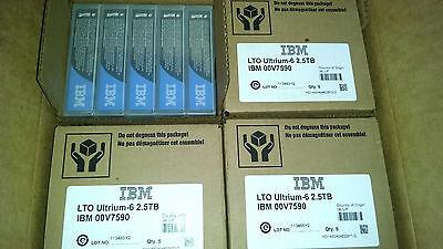 IBM 00V7590 LTO6 ULTRIUM6 DATA TAPE CARTRIDGE (20 PACK) BRAND NEW RETAIL SEALED