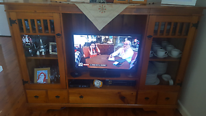 Solid Wood Cabinet TV Unit plus Coffee table Panania Bankstown Area Preview