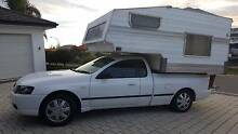 2006 Ford Falcon Ute on LPG with Slide On Removeable Camper Meadow Springs Mandurah Area Preview