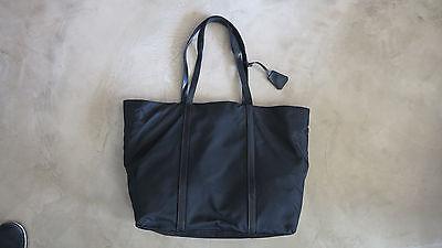 Authentic Prada Shoulder Bag Black Nylon Vintage
