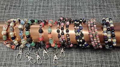 Handmade beaded key chain bracelets and spiral beaded -