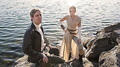 Rey und Han Solo aus Star Wars: Das Erwachen der Macht. Foto: Vincent Tam