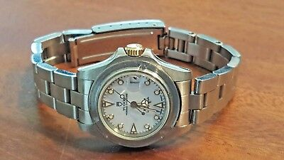 ROLEX Tudor Submariner Oyster date Lady-Sub white dial 18k and ss watch