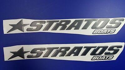 "Stratos Boat Emblem 22.5"" black + FREE FAST delivery DHL express"