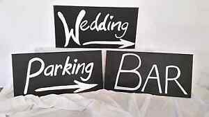 3 x Hand Painted Wedding Signs - Wedding Decorations Branxton Singleton Area Preview