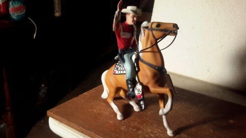 "Hartland  ""ROY ROGERS"" w/TRIGGER w/Fancy White Saddle Western  Figures Models"