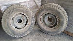 2 x rims and tyres to suit landscruiser etc. Brendale Pine Rivers Area Preview