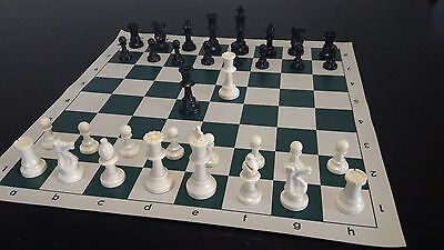 NEW large chess set with roll up vinyl board, full size tournament pieces