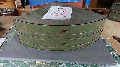 Vintage Industrial 2 Drawer Metal Corner Hardware Parts Cabinet Bin 3