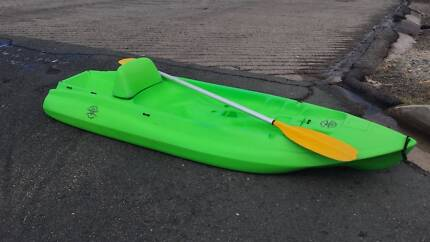 Open kayak with sit and paddle