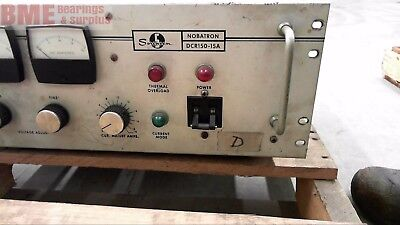 Sorensen Dcr150-15a Power Supply 208230 V Input 50-63 Hz Missing Plug