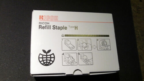 Genuine Ricoh Refill Staple Type H 410509 1101R-AM *5 Rolls of 5000 staples*