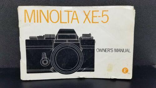 ORIGINAL Minolta XE-5  camera Owner