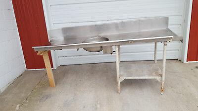 Heavy Duty Stainless Steel Right Side Soil Table Sink 85 X 30 X 39 8 Backspl