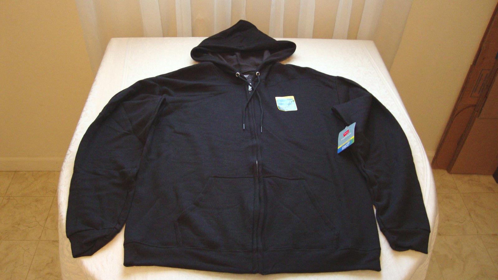 Men's Hanes Fresh IQ Comfort Fabric Zip Up Hoodie Black Size