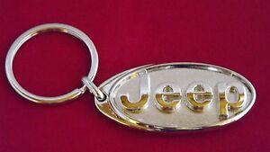 Jeep 3D Logo Schlüsselanhänger Key Chain Chrysler Wrangler Cherokee Offroad