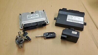 2004 - 2010 AUDI A8 D3 Ignition Set Key ECU ECM Module Keyless Lock Cylinder Key