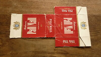 OLD NEW ZEALAND  CIGARETTE PACKET LABEL, PALL MALL RED (Pall Mall Brands)