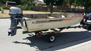 14.5 ft boat , 20 HP Motor and Trailer