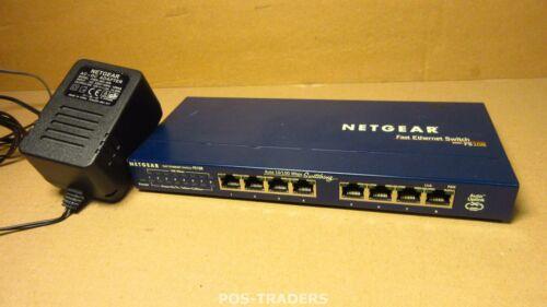NETGEAR ProSAFE FS108 8-Port 10/100 Fast Ethernet Switch - INCLUDING PSU