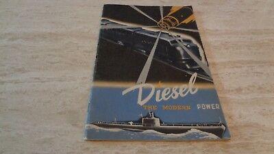 "1941 ""Diesel - The Modern Power"" by Ralph Richardson - General Motors Booklet"