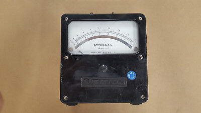 1 Pc. Model 184004 25-500 Cycles Vintage Weston A.c. Amp Meter