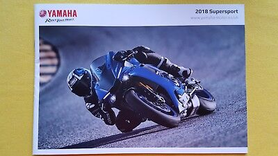 Yamaha Supersport R1M R1 YZF R6 R3 motorcycle sales bike brochure 2018 MINT