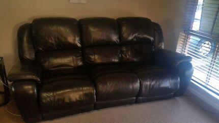 3 piece leather  recliner lounge  suite $350 ono Woodcroft Morphett Vale Area Preview