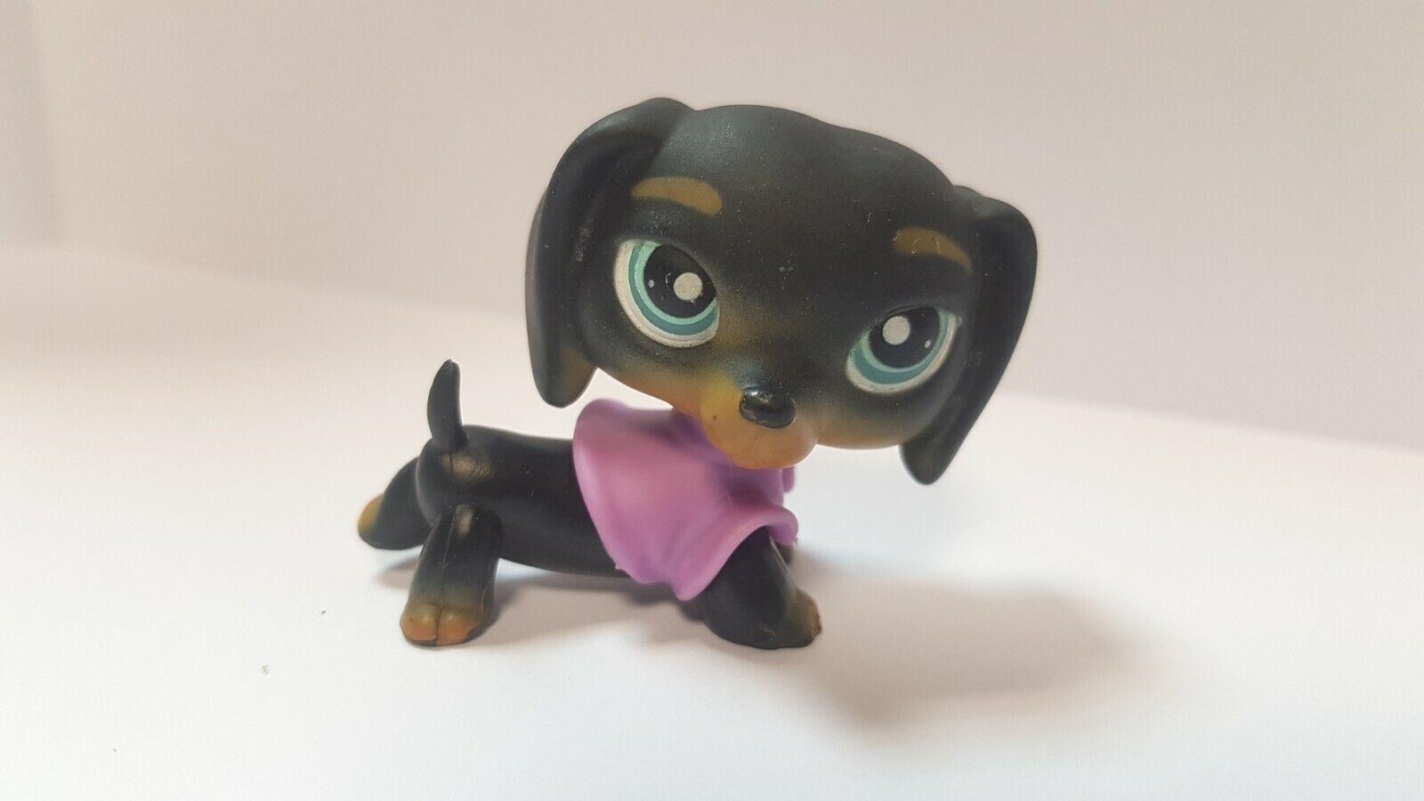 Figurine petshop original chien dog teckel daschund 325 pet shop lps (1)
