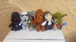 RARE STAR WARS MINI PLUSH COLLECTABLES 6 Rostrevor Campbelltown Area Preview