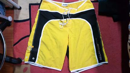 Billabong yellow beach shorts size 36