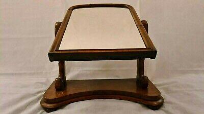 ANTIQUE DRESSING TABLE MIRROR VICTORIAN EDWARDIAN 19TH C / 64CM TALL X 60CM WIDE