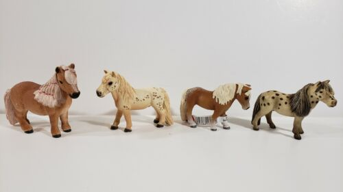 Schleich Lot 4 Pony Horse Animal Figures