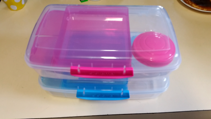 Pink and Blue Sistema lunch boxes New!