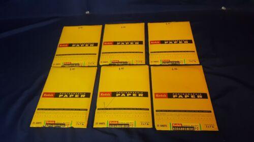 Lot 5 Kodak Kodabromide F-2 Photographic Paper 5x7 25 Pcs Single Weight Sealed